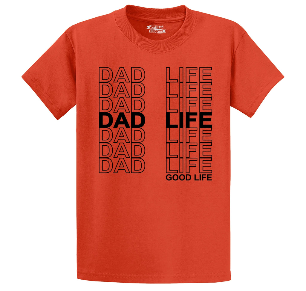 Dad Life Men's Heavyweight Big & Tall Cotton Tee Shirt