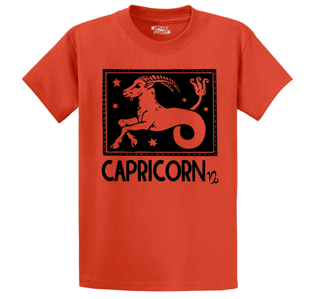 Capricorn Horoscope Men's Heavyweight Big & Tall Cotton Tee Shirt