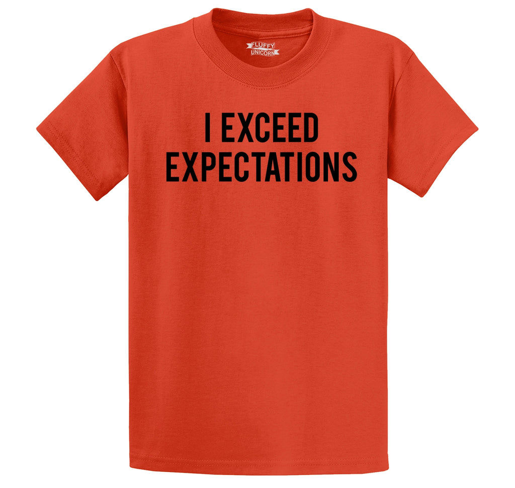 I Exceed Expectations Men's Heavyweight Big & Tall Cotton Tee Shirt
