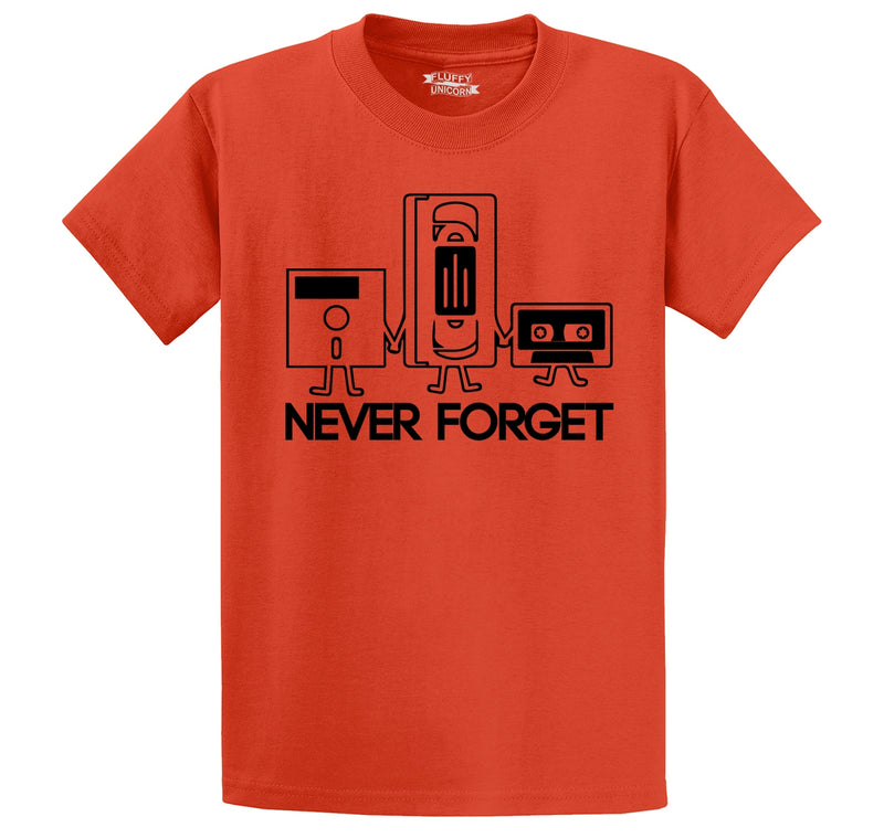 Never Forget Men's Heavyweight Big & Tall Cotton Tee Shirt