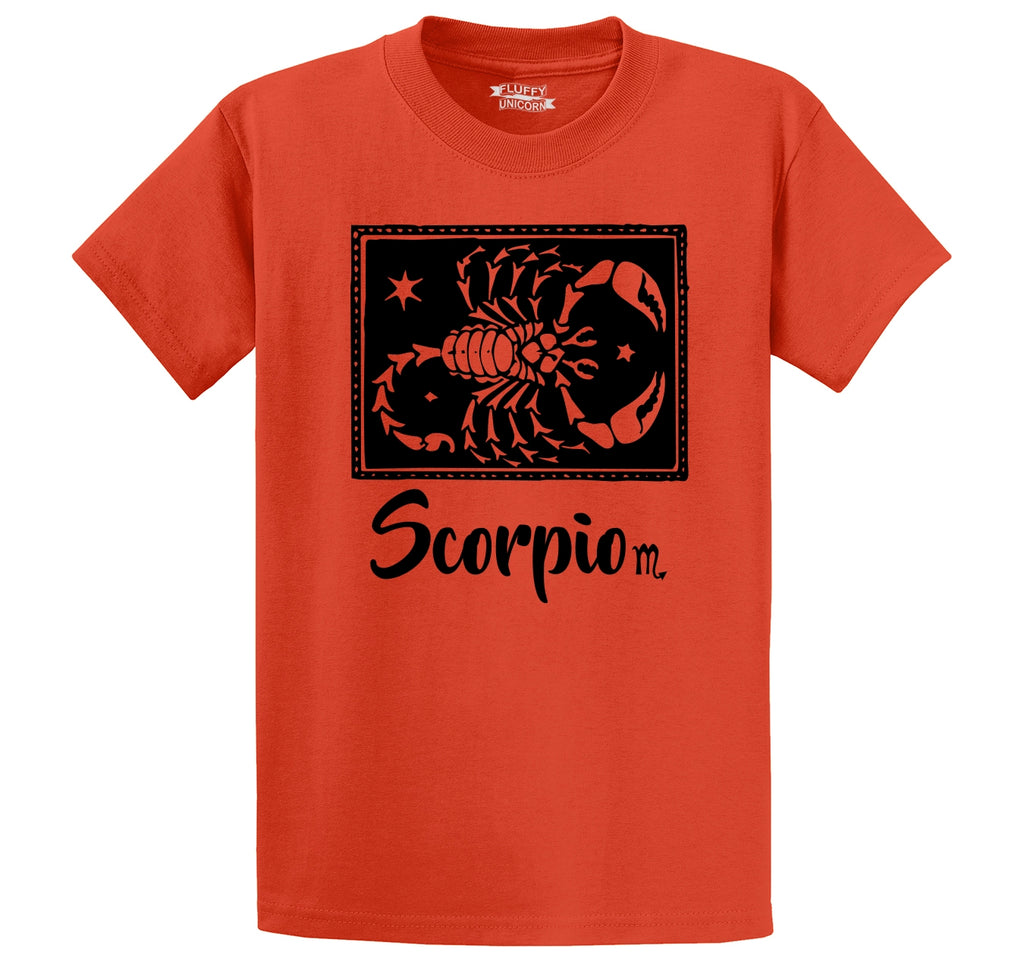 Scorpio Horoscope Men's Heavyweight Big & Tall Cotton Tee Shirt