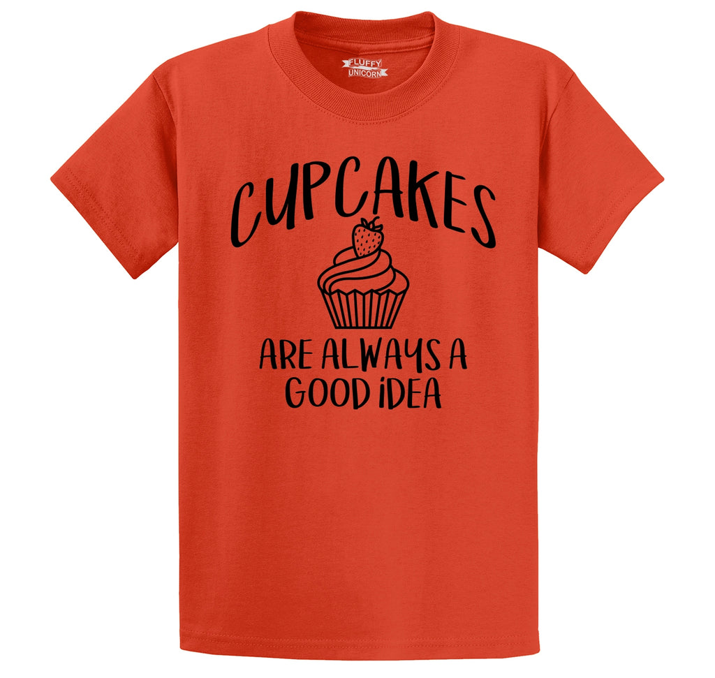 Cupcakes Are Always A Good Idea Men's Heavyweight Cotton Tee Shirt