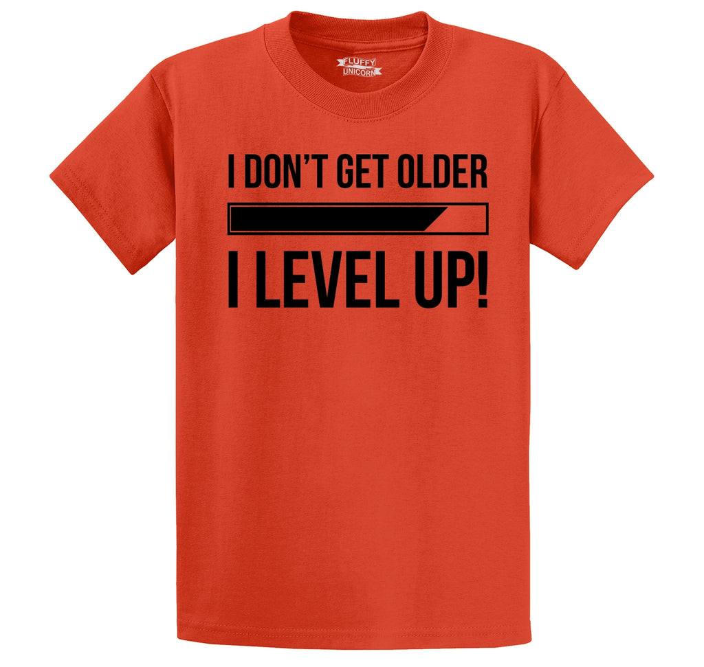 I Don't Get Older I Level Up Men's Heavyweight Cotton Tee Shirt