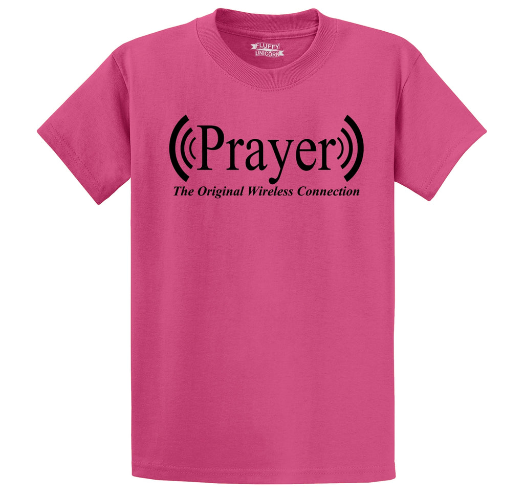 Prayer The Original Wireless Connection Men's Heavyweight Big & Tall Cotton Tee Shirt