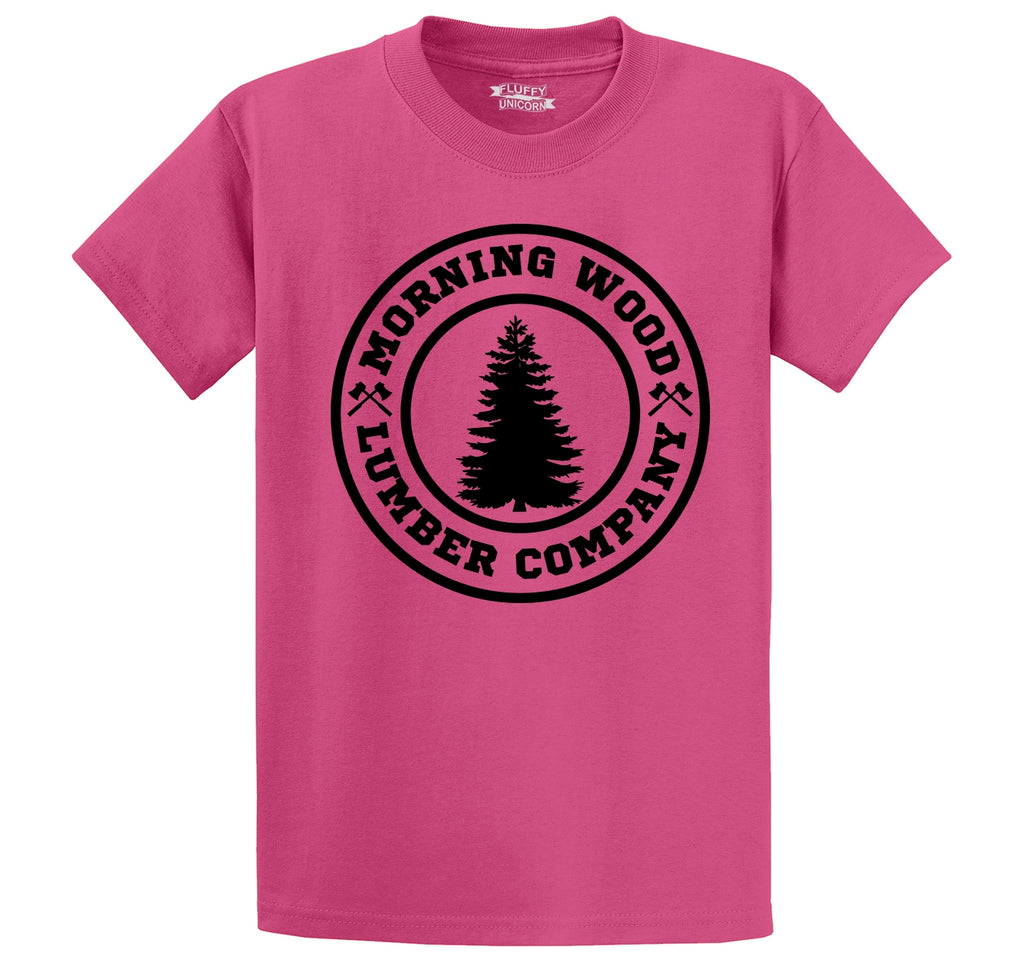 Morning Wood Lumber Company Men's Heavyweight Cotton Tee Shirt