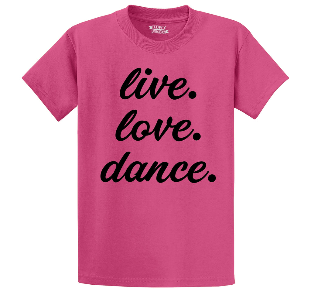 Live Love Dance Men's Heavyweight Big & Tall Cotton Tee Shirt