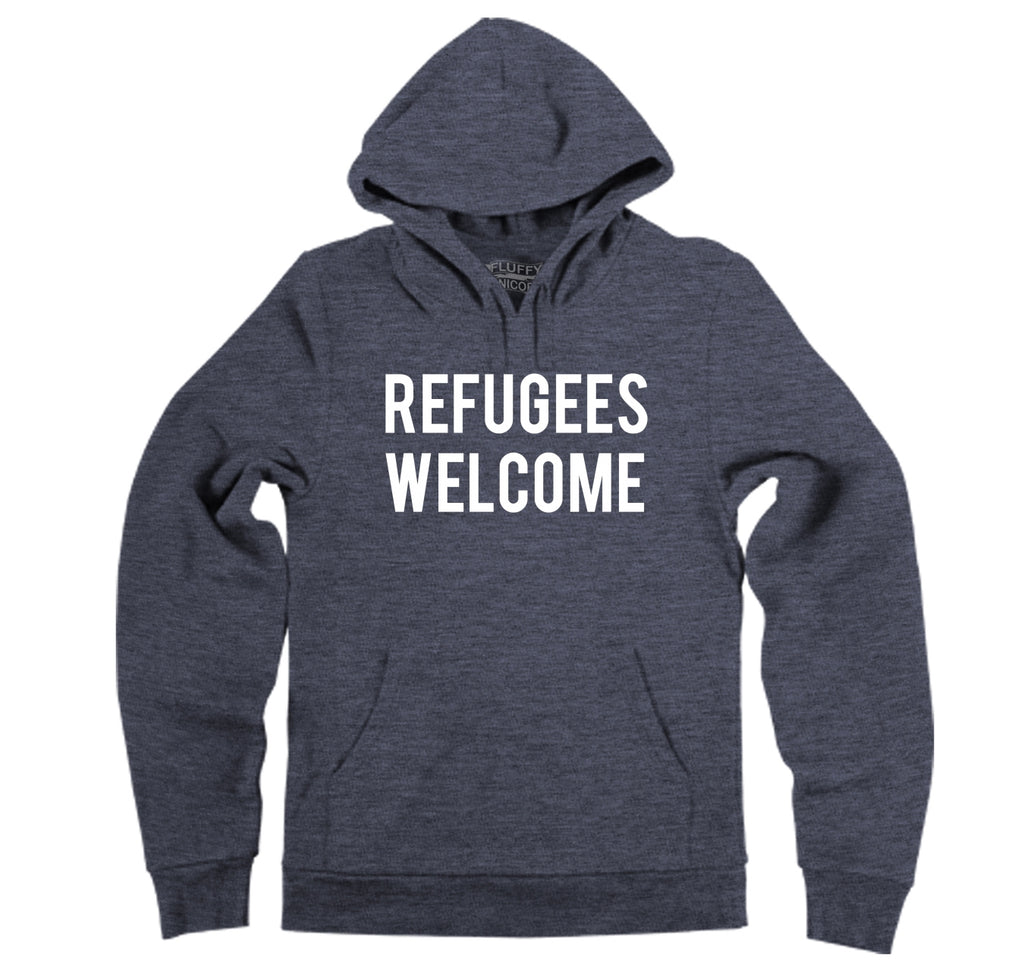 Refugees Welcome Tee Anti Trump Protest Muslim Peace USA Tee Hooded Sweatshirt