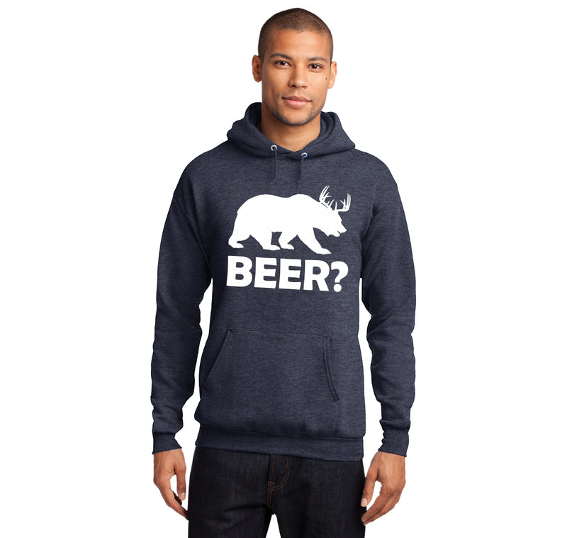 Bear Deer Beer Hooded Sweatshirt