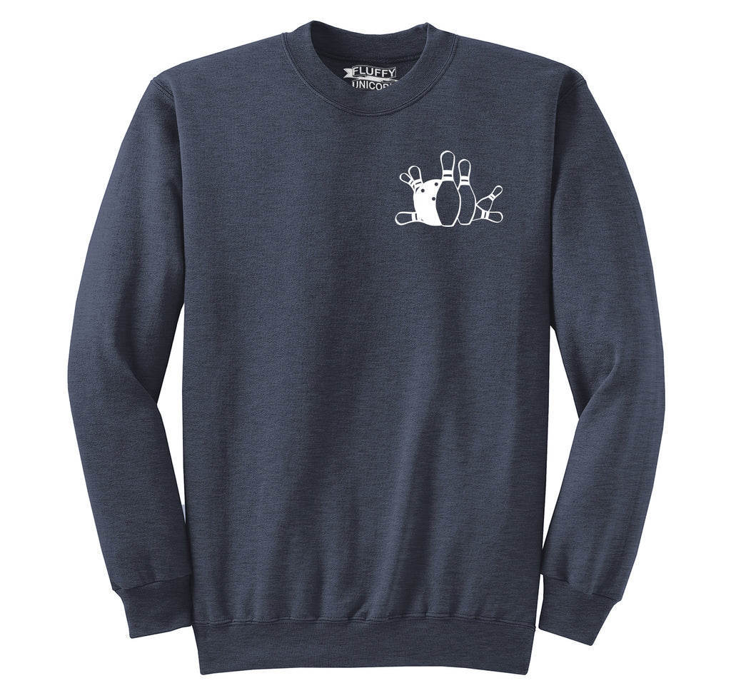 Bowling Chest Print Crewneck Sweatshirt