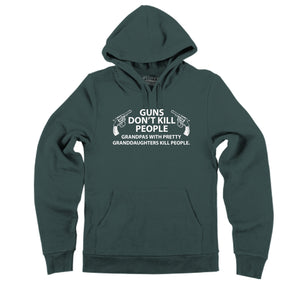 Guns Don't Kill People Grandpas Hooded Sweatshirt