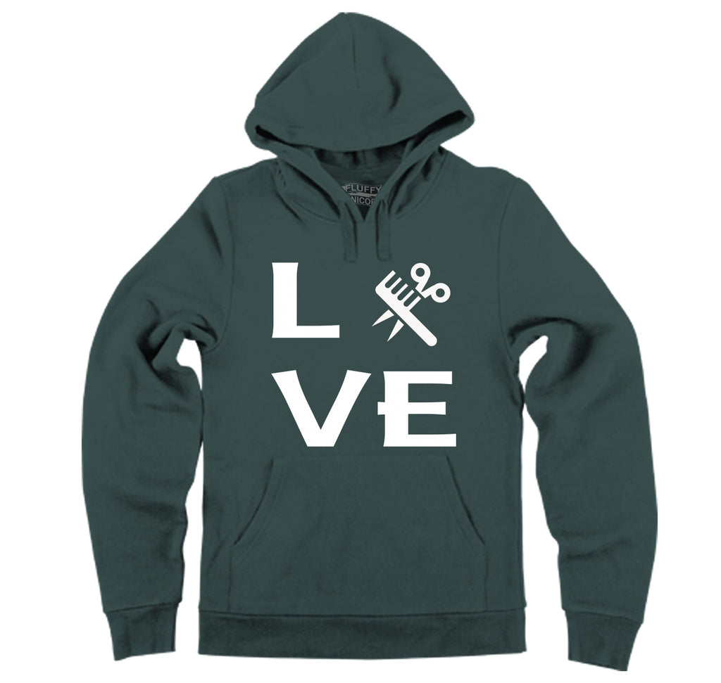 Love Hairstylist Cute Barber Gift Tee Hooded Sweatshirt