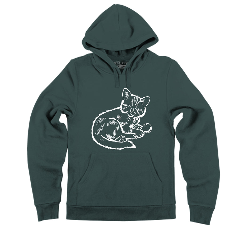 Sleeping Kitten Hooded Sweatshirt
