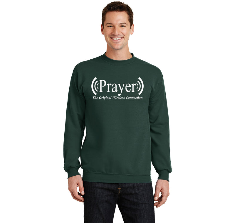 Prayer The Original Wireless Connection Crewneck Sweatshirt