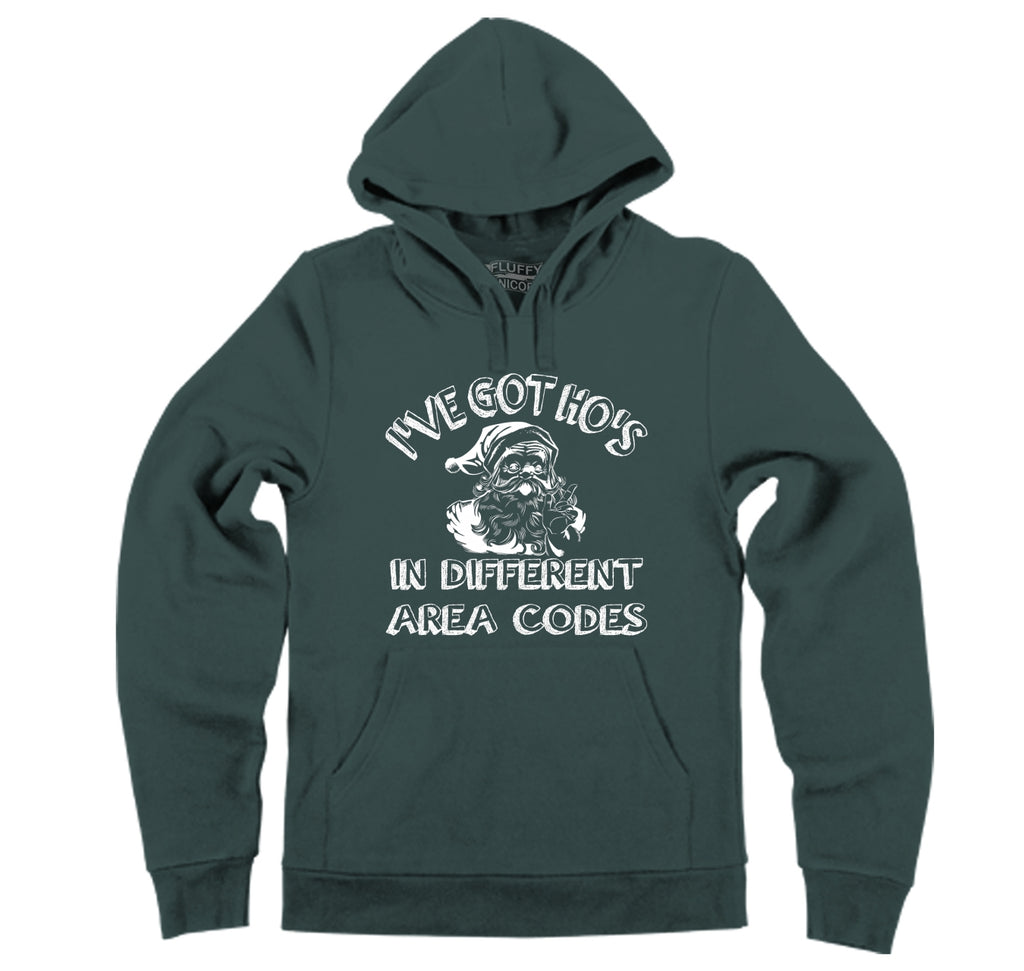 I've Got Ho's In Different Area Codes Hooded Sweatshirt