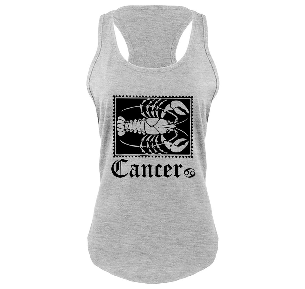 Horoscope Cancer Tee Ladies Gathered Racerback Tank Top