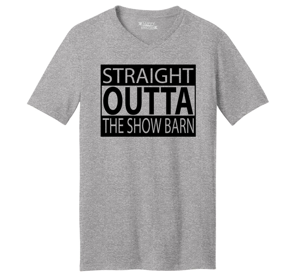 Straight Outta The Show Barn Mens Short Sleeve Ringspun V Neck