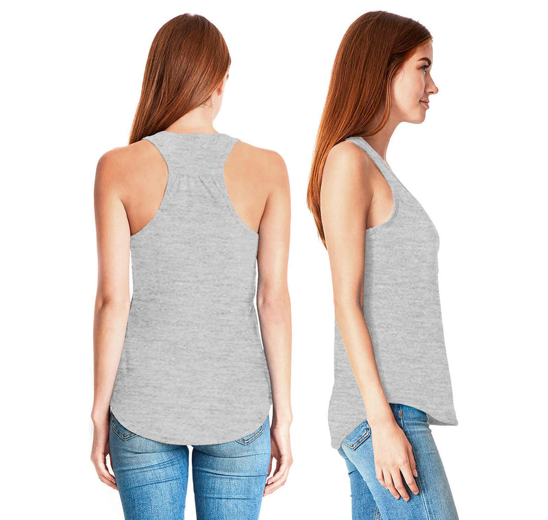 More Cowbell Ladies Gathered Racerback Tank Top