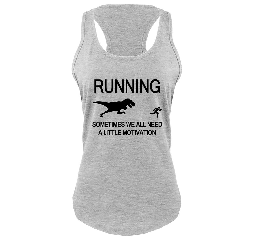 Running Sometimes We Need A Little Motivation Funny Gym Shirt Ladies Gathered Racerback Tank Top