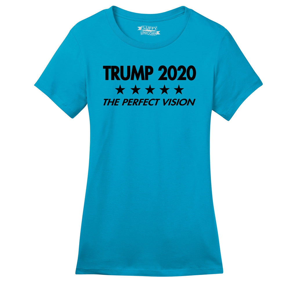Trump 2020 The Perfect Vision Ladies Ringspun Short Sleeve Tee