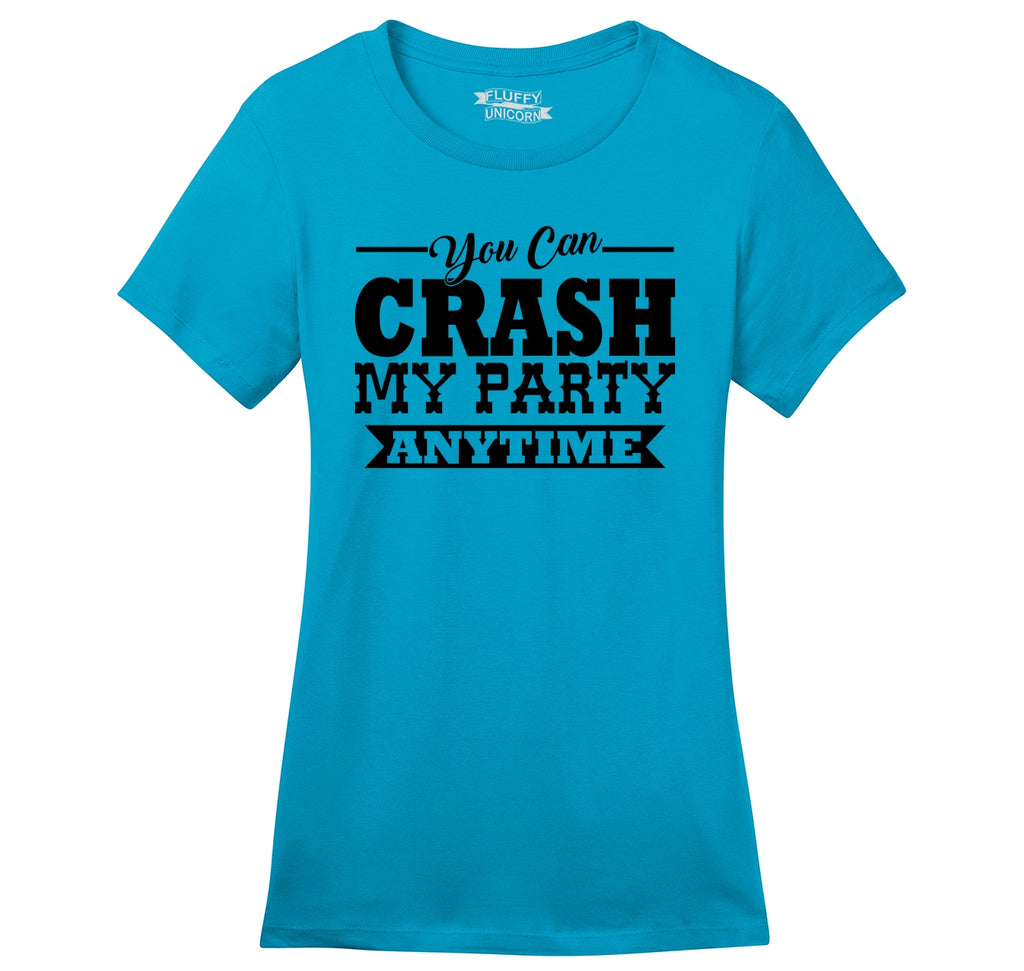 dcb3ad202b0f31 Crash My Party Anytime Shirt Country Song Concert Music Tee Ladies Ringspun  Short Sleeve Tee