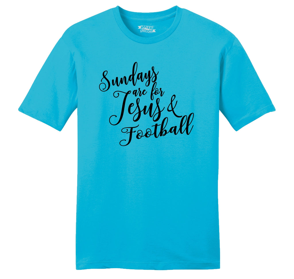 Sundays Are For Jesus & Football Mens Ringspun Cotton Tee Shirt