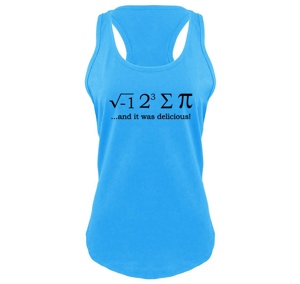 I 8 Sum Pi Ladies Gathered Racerback Tank Top