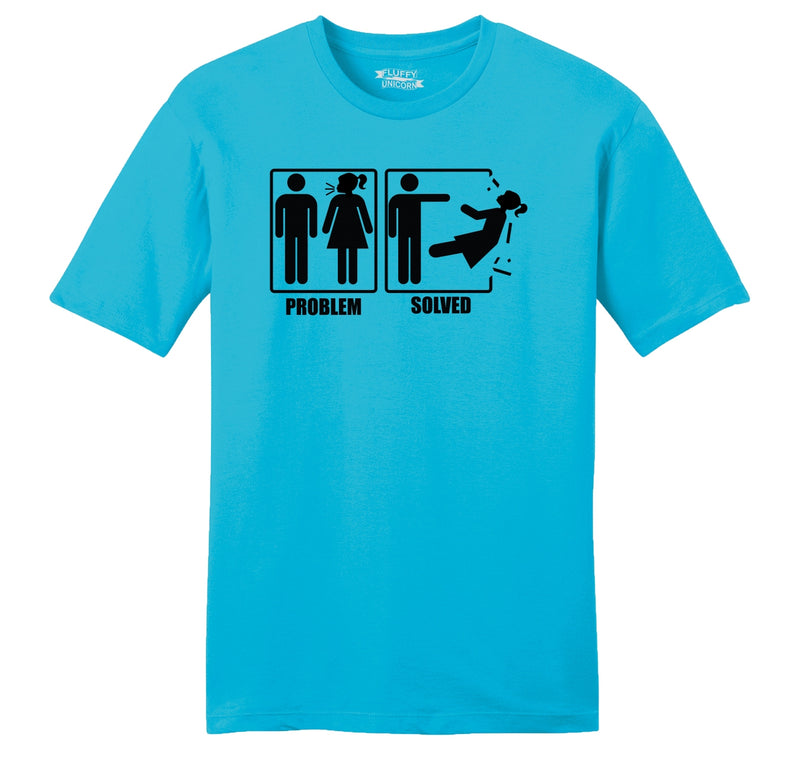 Problem Solved Mens Ringspun Cotton Tee Shirt