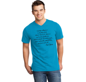 I Pledge Allegiance Mens Short Sleeve Ringspun V Neck