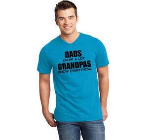 Dads Know A Lot Grandpas Know Everything Mens Short Sleeve Ringspun V Neck