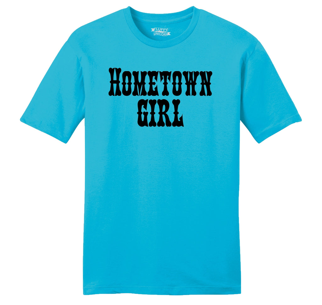 Hometown Girl Mens Ringspun Cotton Tee Shirt