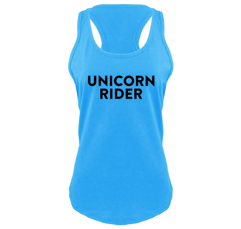 Unicorn Rider Funny T Shirt Cute Unicorn Horse Lover Gift Tee Ladies Gathered Racerback Tank Top