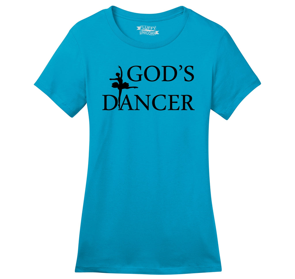 God's Dancer Ladies Ringspun Short Sleeve Tee