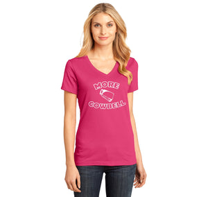 More Cowbell Ladies Ringspun V-Neck Tee