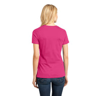 Keep Calm and Fish On Ladies Ringspun Short Sleeve Tee