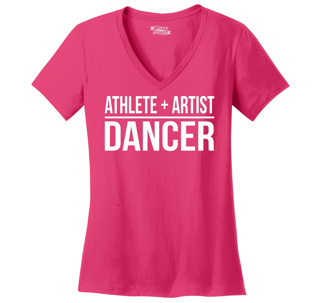 Athlete Artist Dancer Ladies Ringspun V-Neck Tee