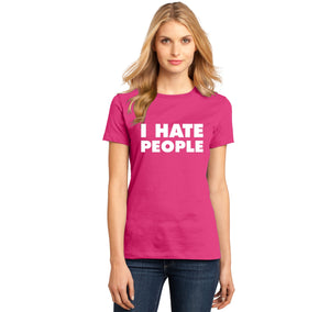 I Hate People Ladies Ringspun Short Sleeve Tee