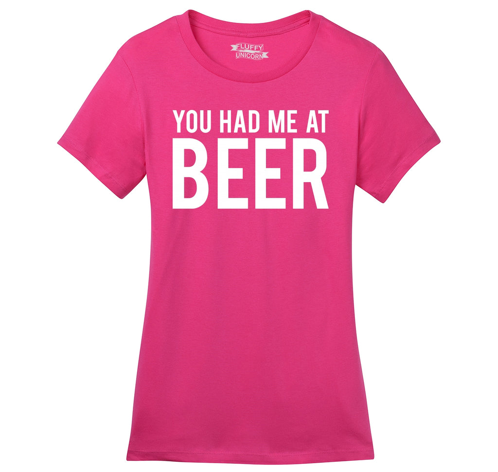 You Had Me At Beer St Patty's Day Tee Ladies Ringspun Short Sleeve Tee