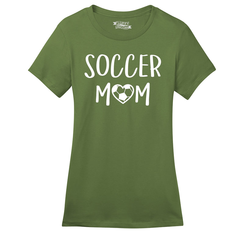 Soccer Mom Ladies Ringspun Short Sleeve Tee