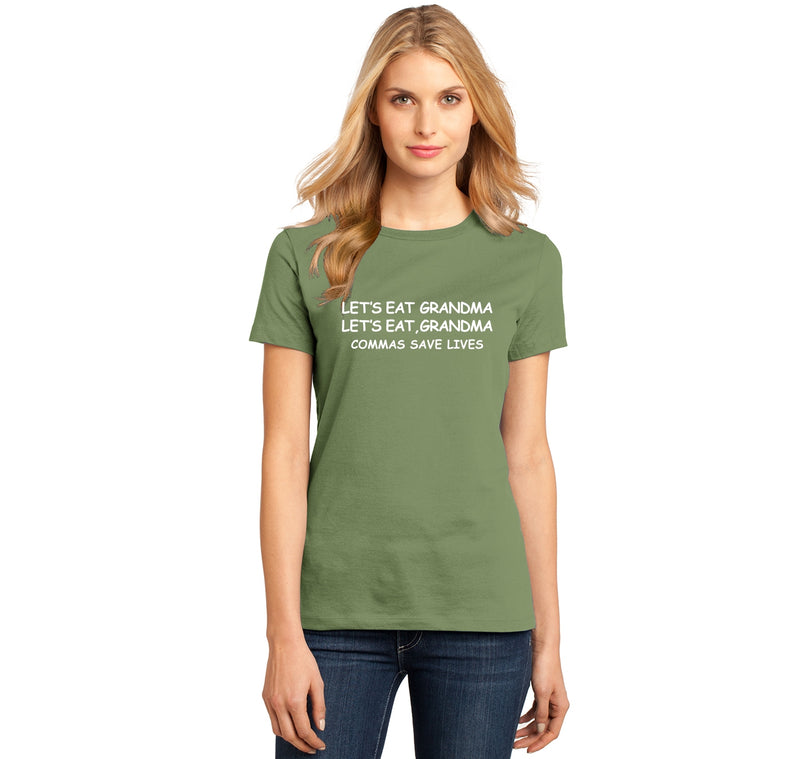 Lets Eat Grandma Let's Eat Grandma Grammar Ladies Ringspun Short Sleeve Tee
