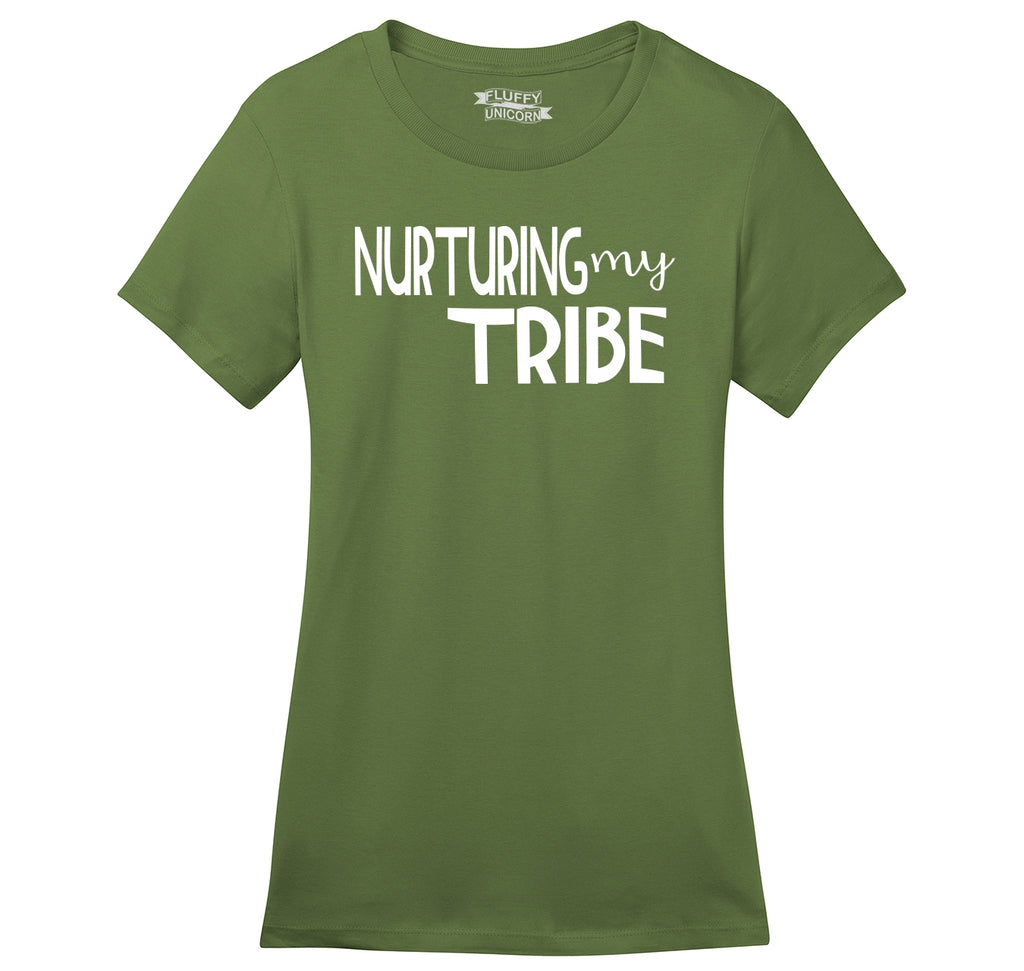 Nurturing My Tribe Ladies Ringspun Short Sleeve Tee