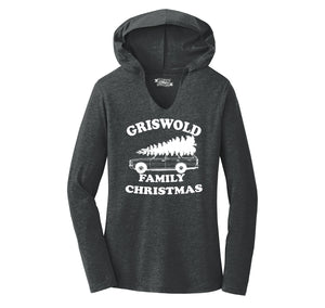Griswold Family Christmas Ladies Tri-Blend Hooded Tee