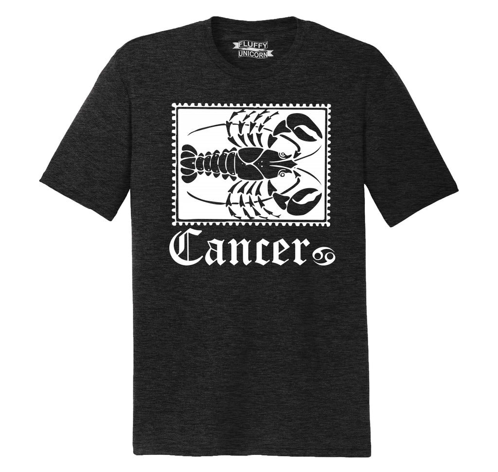 Horoscope Cancer Tee Mens Short Sleeve Tri-Blend Shirt