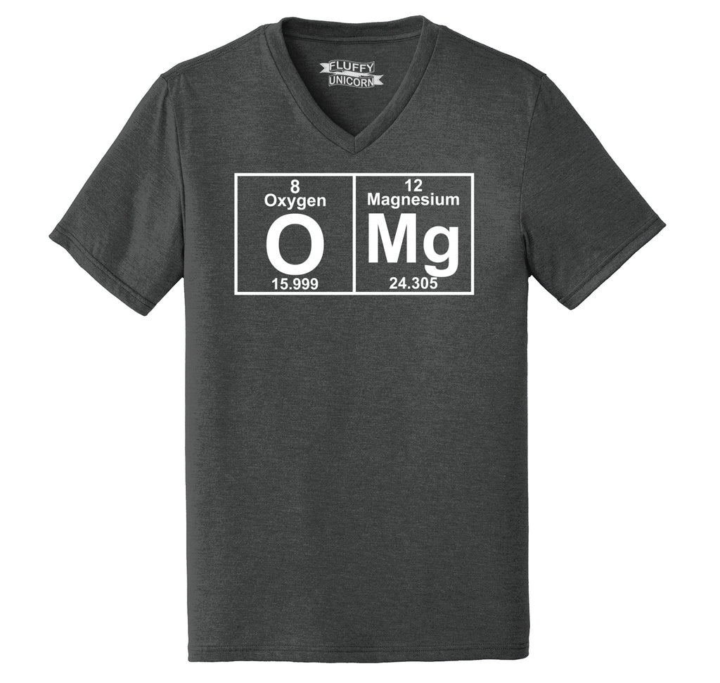 OMG Periodic Table Of Elements Mens Tri-Blend V-Neck Tee Shirt