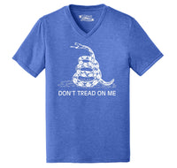 Gadsden Flag Don't Tread On Me Mens Tri-Blend V-Neck Tee Shirt
