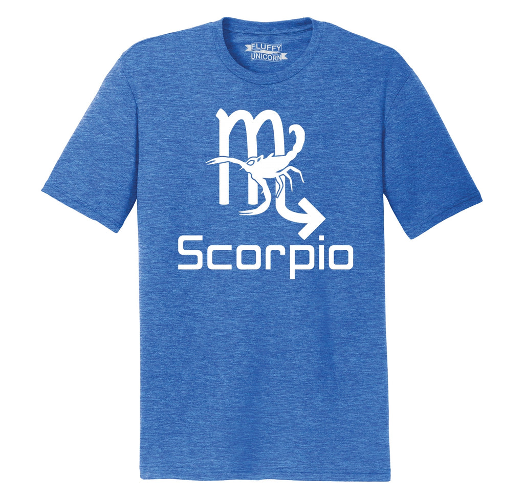 Scorpio Horoscope Birthday Gift Mens Short Sleeve Tri-Blend Shirt