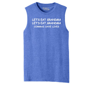 Lets Eat Grandma Let's Eat Grandma Grammar Mens Muscle Tank Muscle Tee