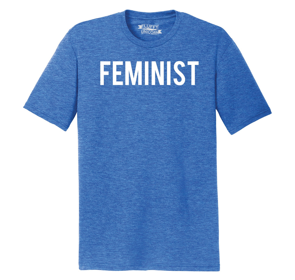 Feminist T Shirt Woman Rights Political Protest Tee Mens Short Sleeve Tri-Blend Shirt