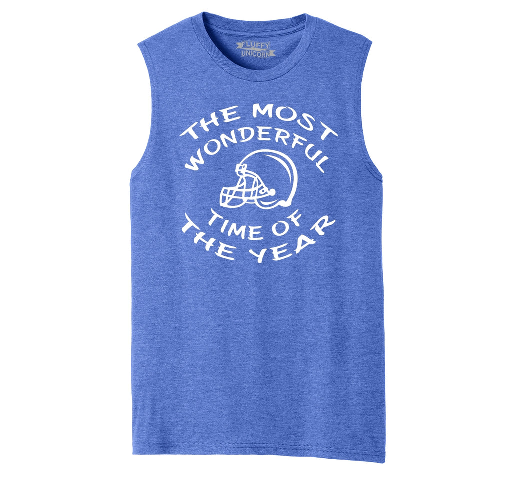 The Most Wonderful Time Of The Year Football Mens Muscle Tank Muscle Tee