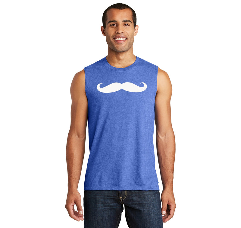 Mustache Graphic Mens Muscle Tank Muscle Tee