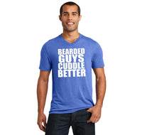 Bearded Guys Cuddle Better Mens Tri-Blend V-Neck Tee Shirt